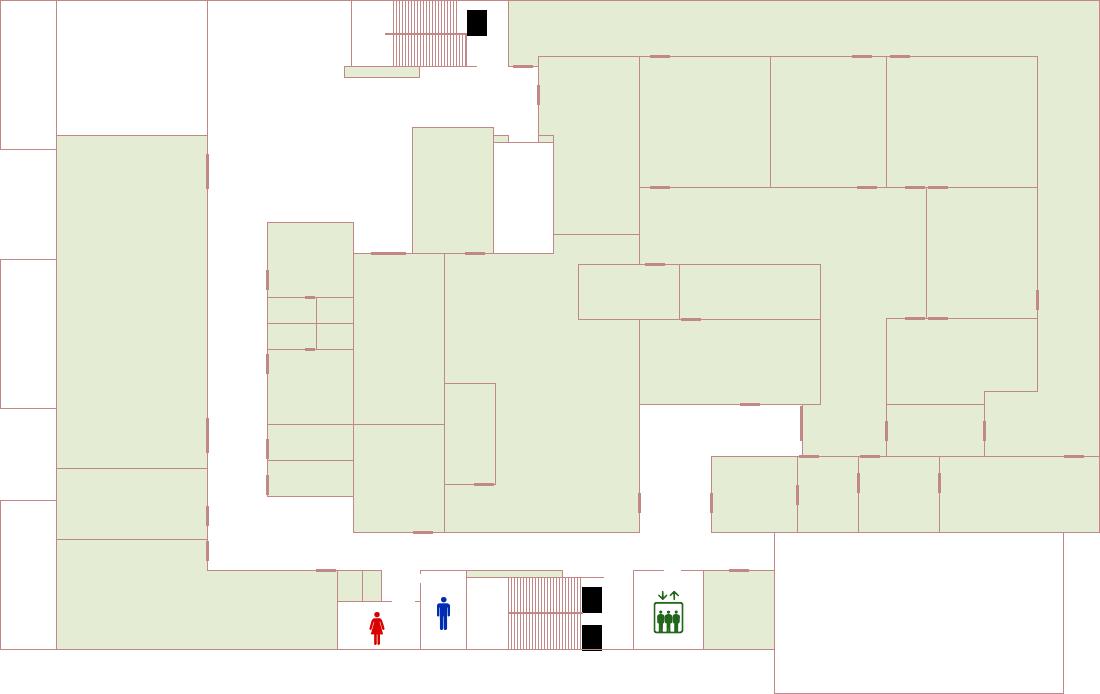 2Fフロアマップのイラスト