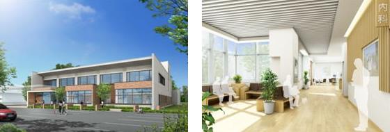 動物医療センター完成イメージのCGパース