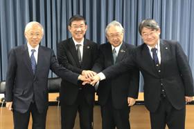 4大学総長・学長記者会見
